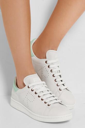 shoes adidas stan smith raf simons white sneakers
