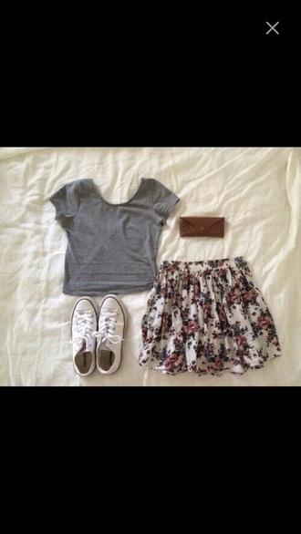 top pretty summer flower girly skirt