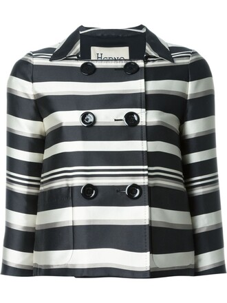 jacket striped jacket black