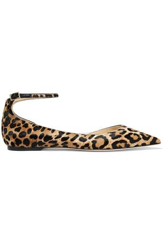 hair flats print leopard print shoes