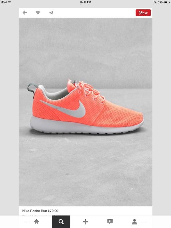 Nike Peach Running Shoes Vcfa