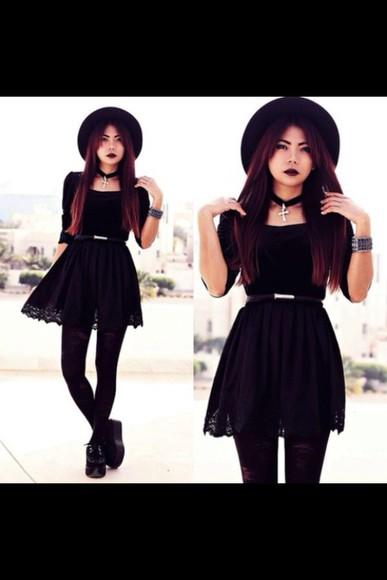 rock shoes black goth hipster dress alternative cute dress cute