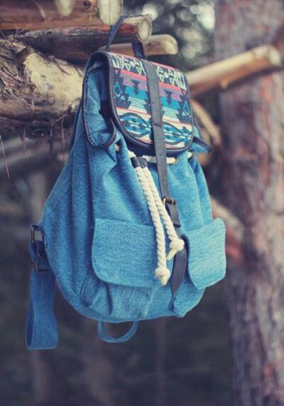 bag aztec hipster backpack denim denim backpack