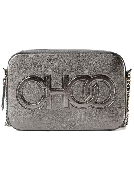 Jimmy Choo Metallic Nappa Choo Logo Crossbody