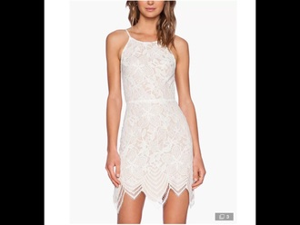 dress cream lace zigzag end