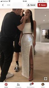 dress,white dress,sparkly dress,prom dress