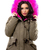 Army Green Parka With Fur Hood