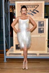 dress,adriana lima,model,fashion week,celebrity,fringes