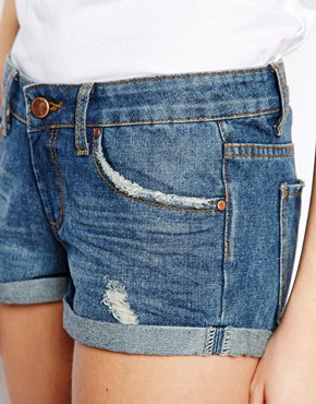 ASOS | ASOS Easy Denim Short in Indigo at ASOS