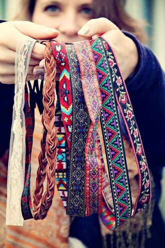 hair accessory headband tribal pattern aztec print hippie coachella boho summer