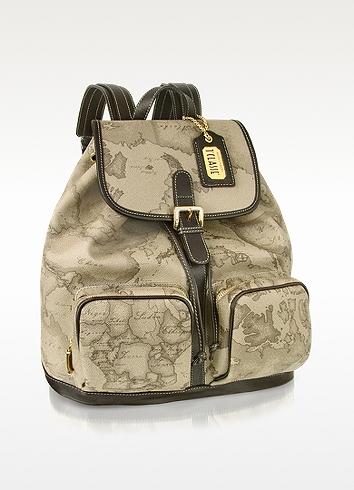 Alviero Martini 1A Classe Dove Gray 1a Prima Classe - Two Pocket Backpack at FORZIERI