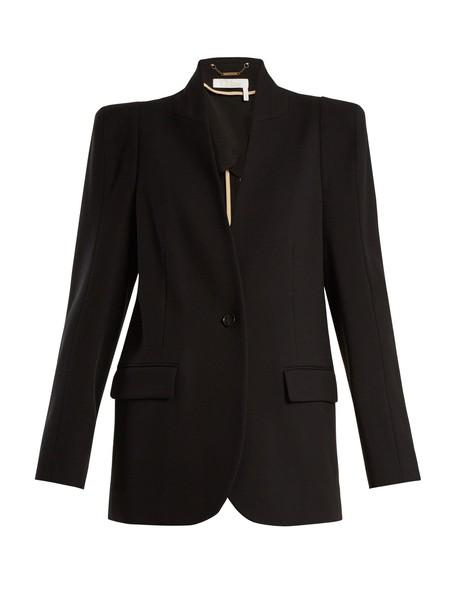 Chloe blazer wool black jacket