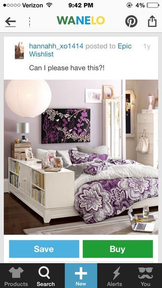 home accessory pants bedding girly purple comforter duvet bedroom oil painting