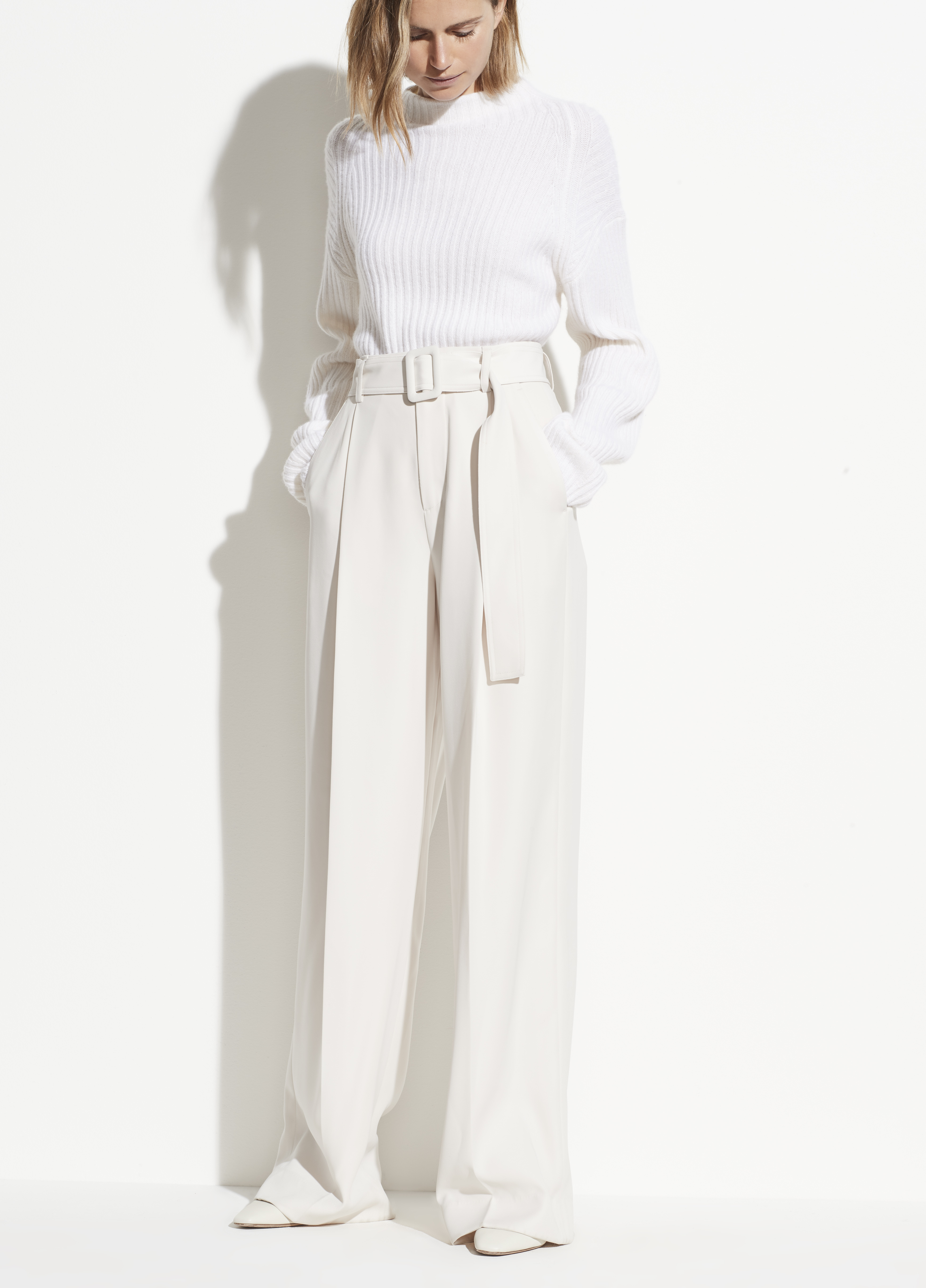 Belted Wide Leg Pant for Women | Vince