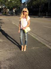 a spoonful of style,shirt,jeans,shoes,belt,bag,jewels,sunglasses