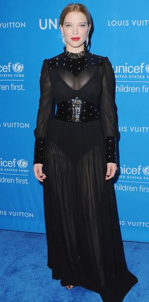 Dress All Black Everything See Through Dress Sheer La Seydoux