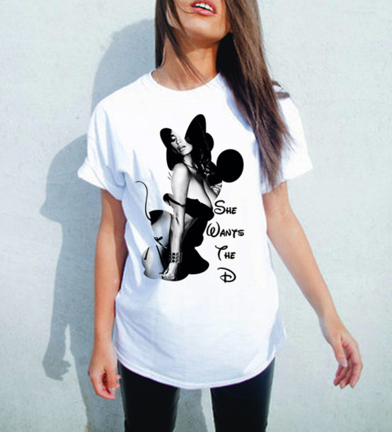 T-shirt: minnie mouse shirt, she wants the d, minnie mouse ...