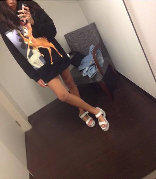 Shoes White Sandals Tumblr Blog Fashion Style Tumblr Style Black And White Black T