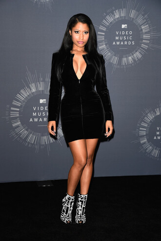 little black dress nicki minaj dress vma shoes