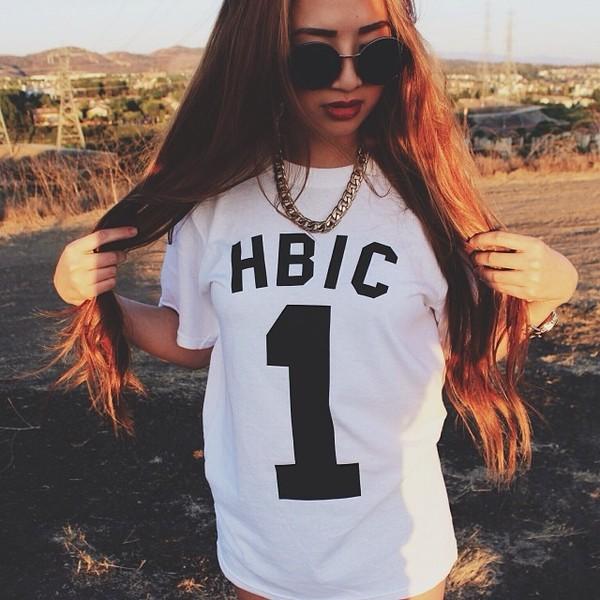 shirt t-shirt sunglasses jewels hbic