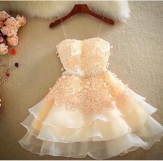 dress pink homecoming dress flowers