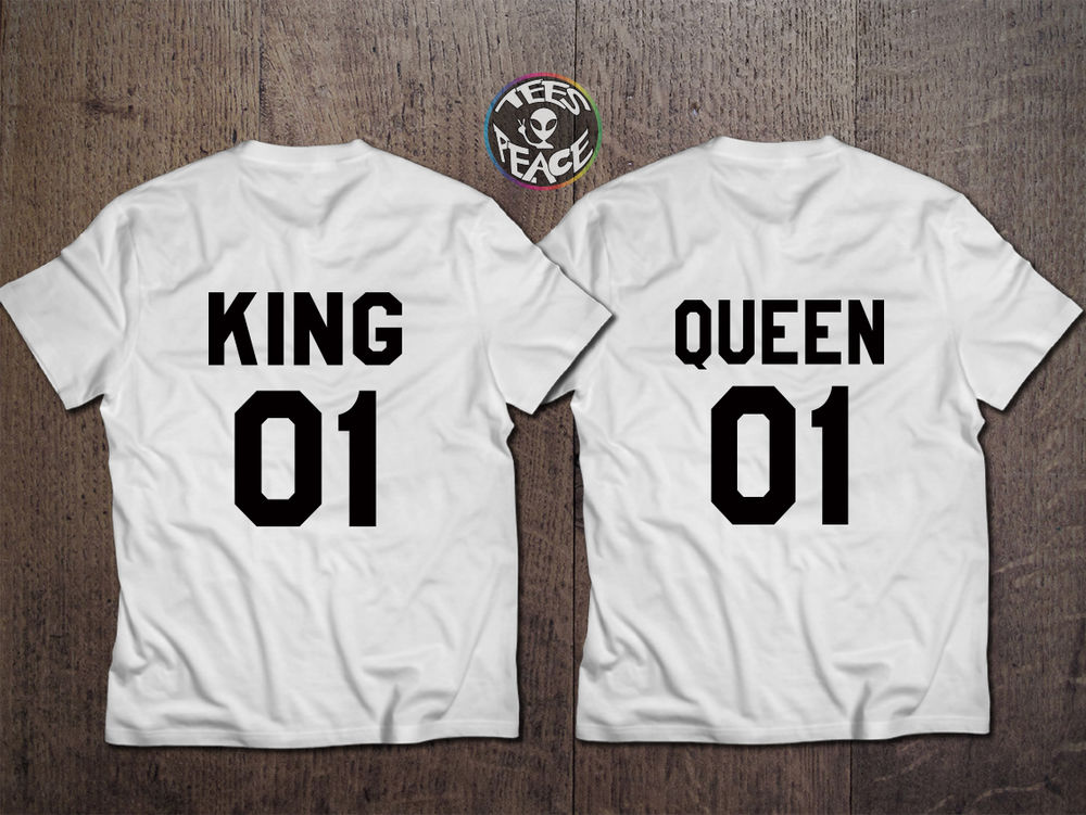 King and Queen 01 Couple Matching T Shirt Couple Wedding Birthday Gift