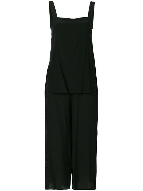 theory jumpsuit women black silk