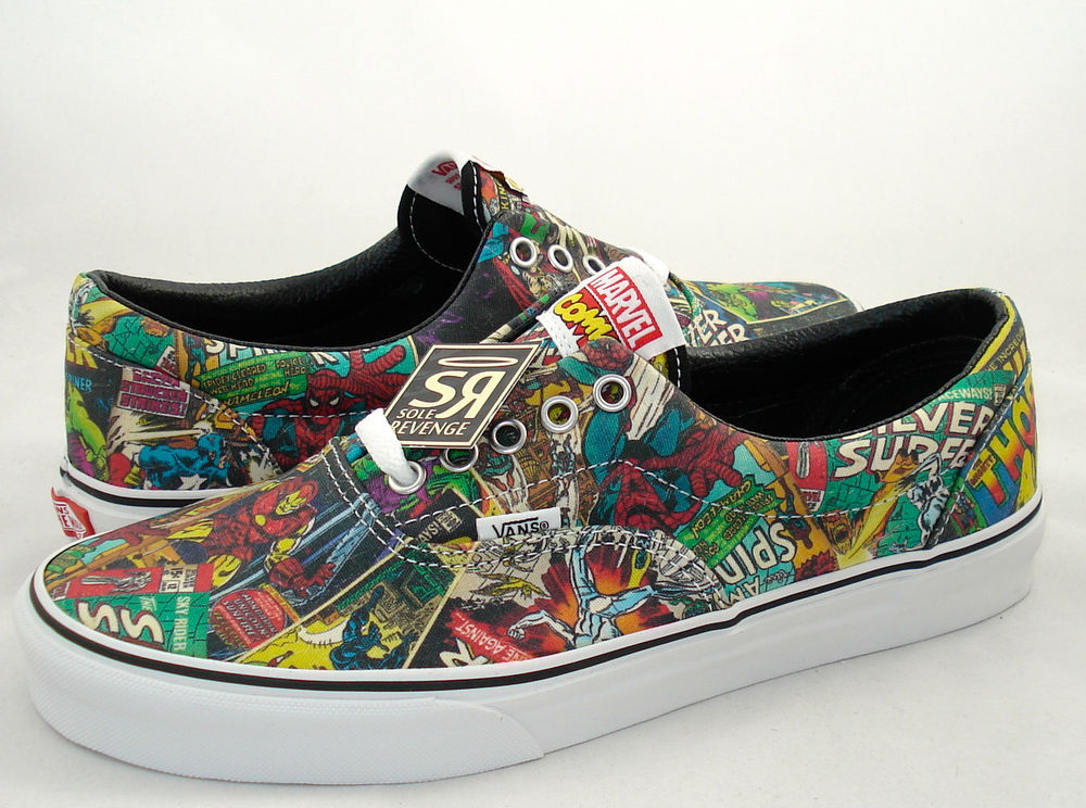 New men's vans era avengers shoes marvel skate iron man thor spider hulk comics