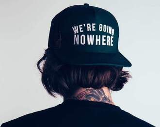hat quote on it black white tattoo shirt