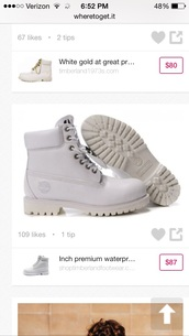 shoes,white tims