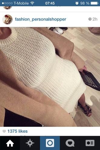 dress knitted dress beige dress