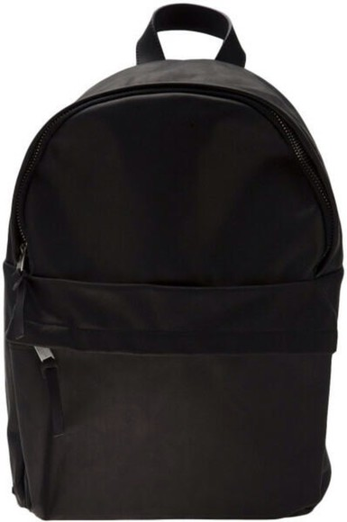 bag backpack leather backpack faux leather patent leather black backpack