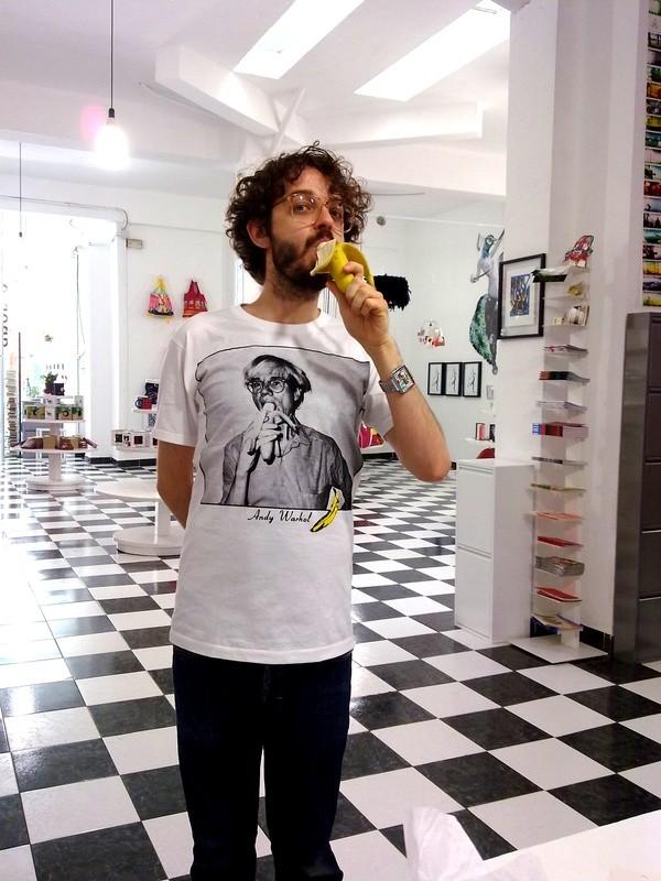 t-shirt warhol banana print