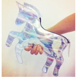 Unicorn hologram handbag
