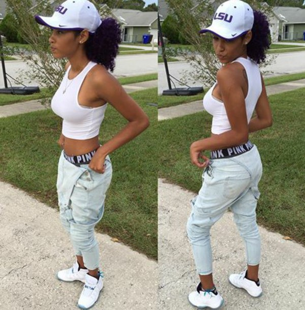 4b3b428ade5 ... coupon code for jeans aaemae overalls jordans pink victorias secret  white crop tops nike hat cute ...