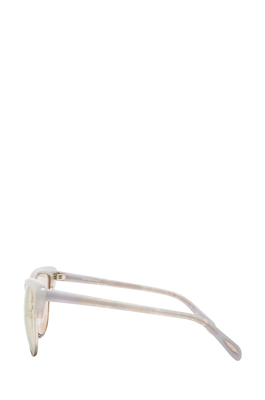Alisha sunglasses in soft pearl & opal flash