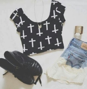 top crop tops shorts style summer outfits clothes beach hipster boho girly cross skirt leggings