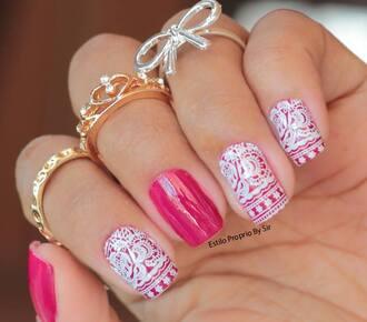 nail polish nail nailart decalque finger nails effect estilopropriobysir nails art
