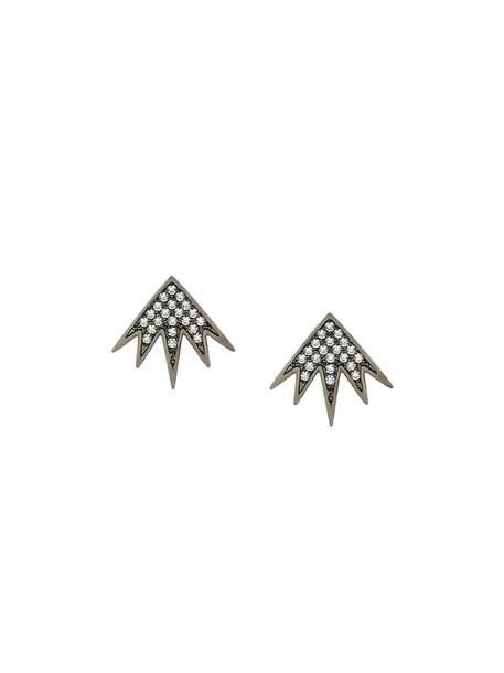 FEDERICA TOSI women earrings grey metallic jewels