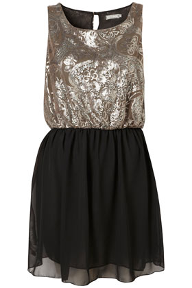 Sequin Skirt Dress by Love** - Dresses  - Clothing  - Topshop
