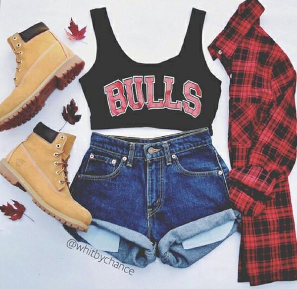 t-shirt shoes pants blouse top shorts cuffed shorts chicago bulls shirt red flannel shirt boots cardigan fashion cute top cute