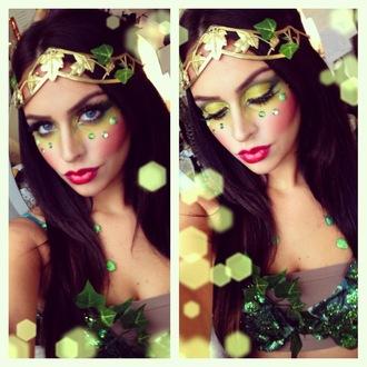 hair accessory headband gold greek goddess