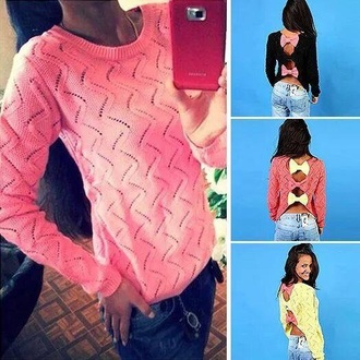 sweater ribbons style winter sweater colourful