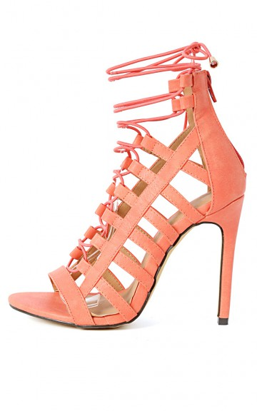 Common-14 Strappy Lace Up Gladiator Heels | MakeMeChic.com