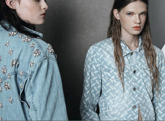 hippie hippie milkshake blogger denim jacket embellished brunette embellished denim top