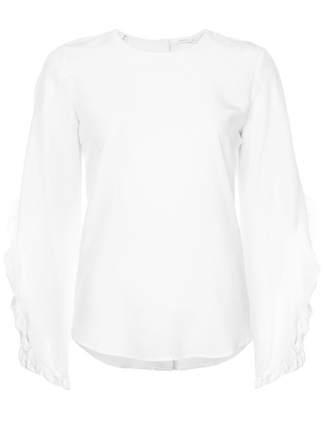 A.L.C. blouse women white silk top