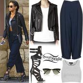 jacket,leather jacket,shoes,sunglasses