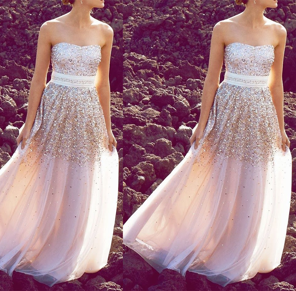 Aliexpress.com : Buy Pintrestest Prom Dresses Sweetheart Gold Sequined Bodice Long A line Ivory Tulle Ladies' Party Gown from Reliable party gown suppliers on Suzhou Babyonlinedress Co.,Ltd