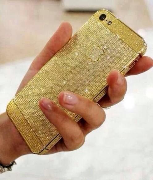 jewels gold diamonds iphone 5 case iphone case