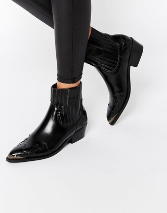shoes ankle boots pointed toe black boots